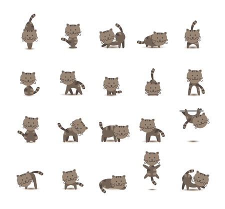 20 Set Cat Vector