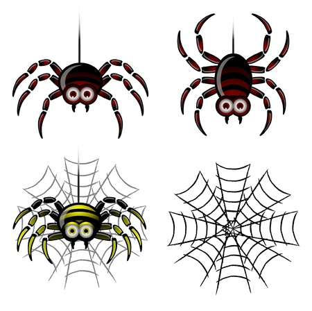 Spider set   web Vector