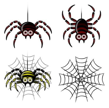 spider web background: Spider set   web