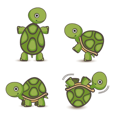 Turtle set Vector