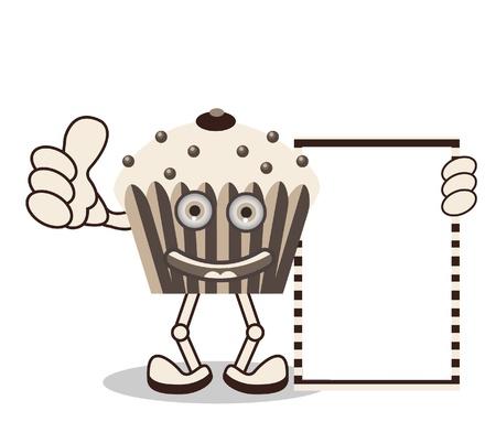 Happy Cupcake Stock Vector - 13690474