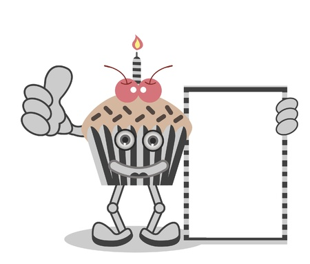Cupcake candle Vector