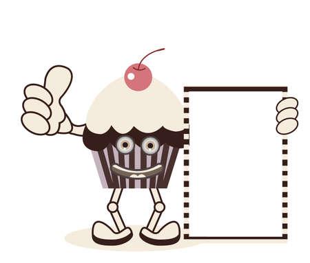 Sweet Cupcake Banner Vector