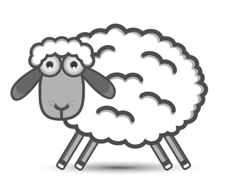 sheep love: oveja Vectores