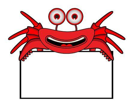 Crab Banner Vector