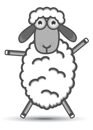lamb cartoon: Sheep Vector Illustration