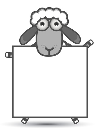 Sheep Banner Stock Vector - 13690022