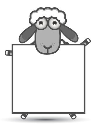 sheep clipart: Sheep Banner