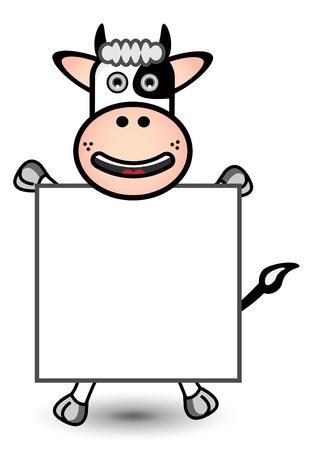 Cow Banner Vector
