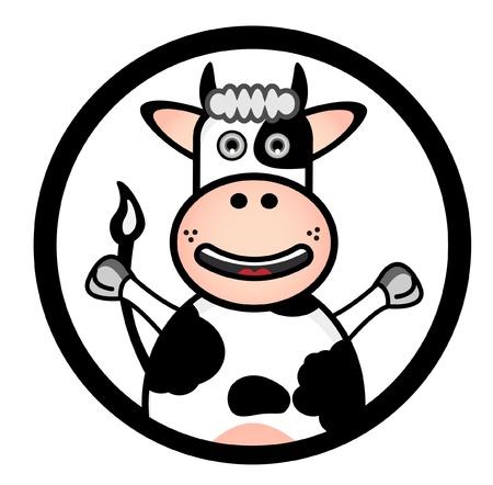 cow Banner Stock Vector - 13689926