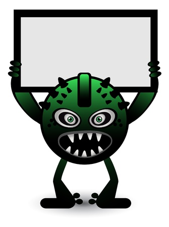 Green Monster Banner Vector