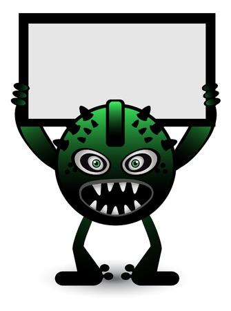 Green Monster Banner Vector