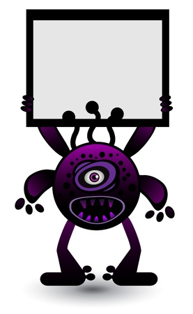 Purple virus Banner Vector