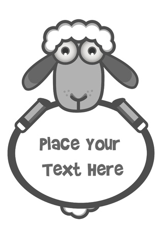 Sheep Banner Text Illustration