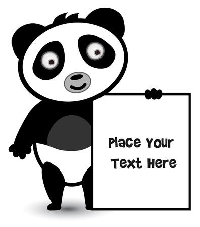 panda banner Vector