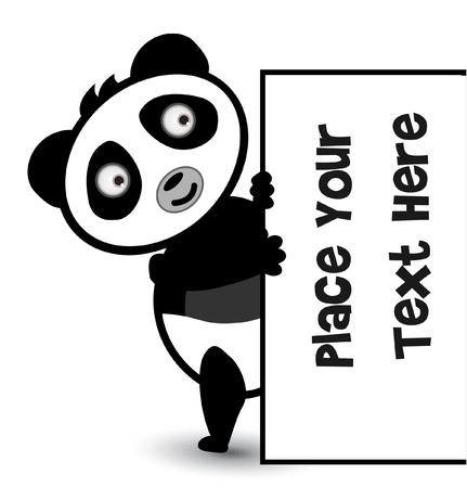 cute bear: cute bear panda banner Illustration
