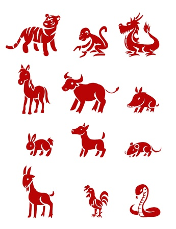 chinese zodiac Vector