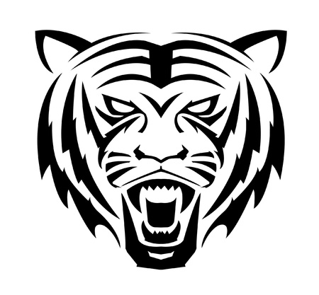 Tiger Face Symbol Stock Vector - 14291281