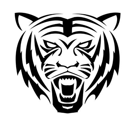 bengals: Tiger Face Symbol Illustration