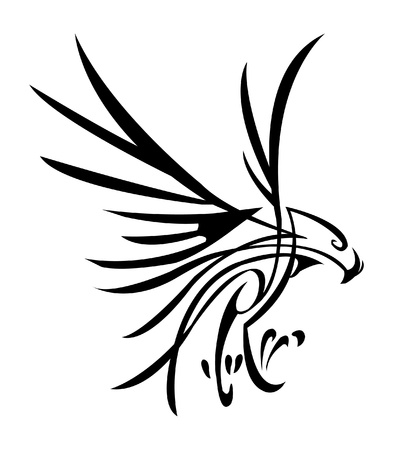 eagle flying: eagle tattoo