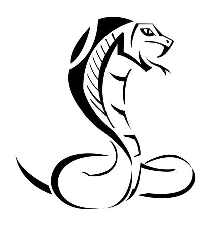 serpiente cobra: Cobra Ilustración Vectores