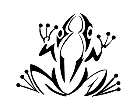 frog tattoo Vector