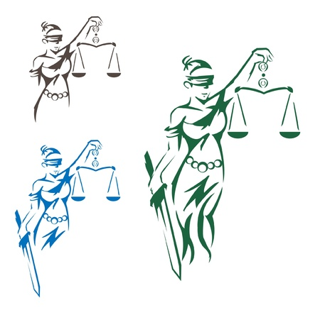 antique woman: Lady Justice