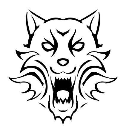 wolf face: Wolf Illustration