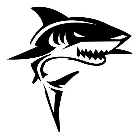 squalo bianco: Shark Illustrazione Vettoriali