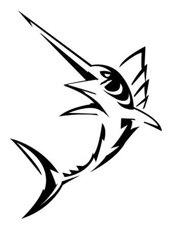 pez espada: aguja Vectores