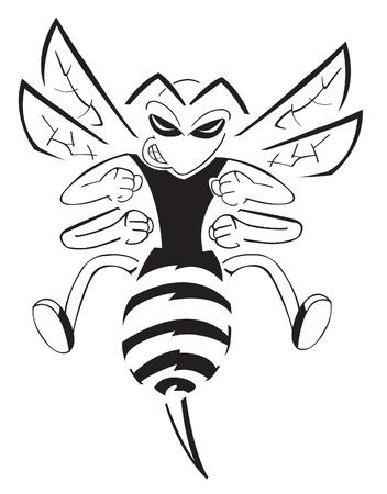avispa: Bee caracteres Vectores