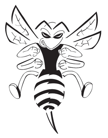 beekeeping: Bee Character Illustration