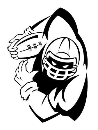 football helmet: Football player Illustration