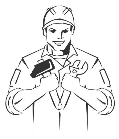 technician Symbol Mascot Vector