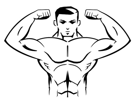 bodybuilder Mascot