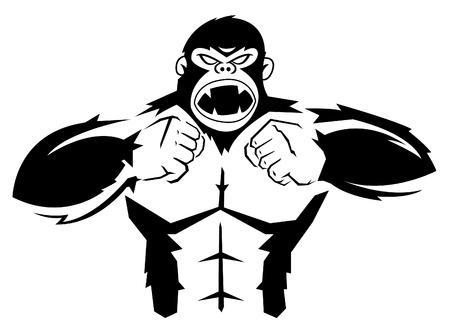 angry look: Gorilla