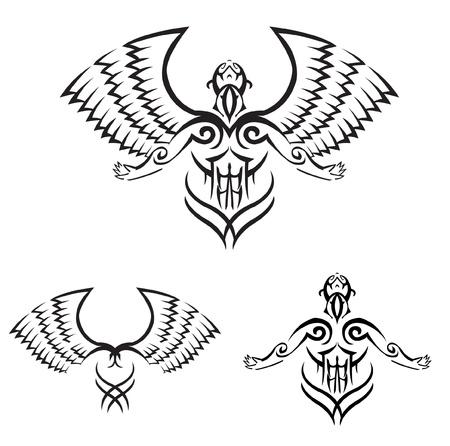 man power wings Stock Vector - 14291324