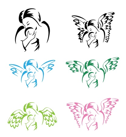 Angel Mother Wing Stock Vector - 14291303
