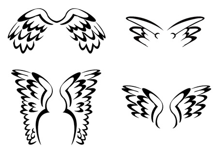 wing Simple set Stock Vector - 14291298