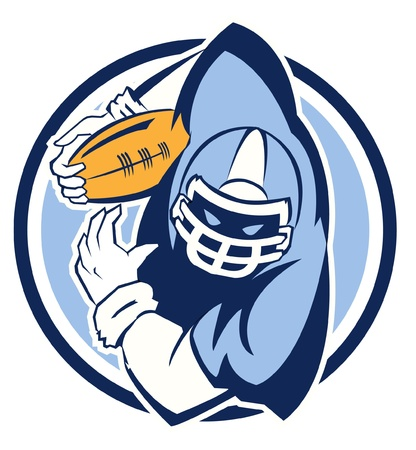 football helmet: Football Player Mascot