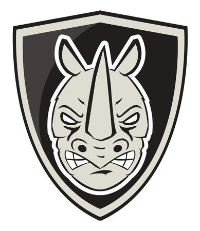 nashorn: Rhinoceros Symbol Illustration