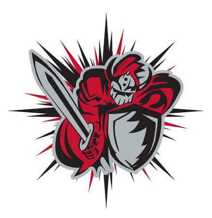 knightrider mascot Vector