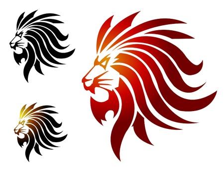 of lions: Le�n mascota Vectores
