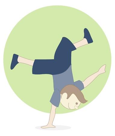boy breakdance Vector