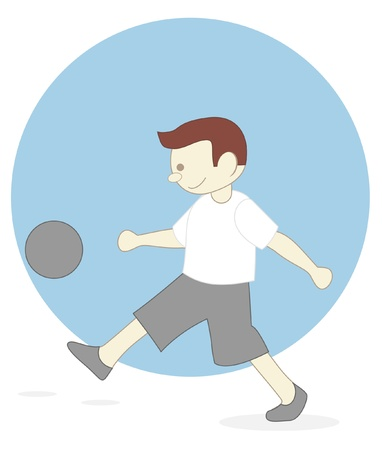 boy football Vector