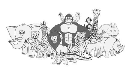 wild Animals group Vector