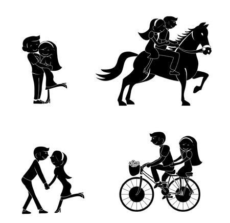 tattoo girl: couple silhouette