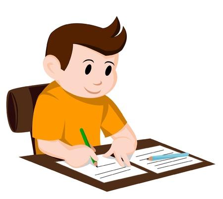 deberes: escritura del ni�o