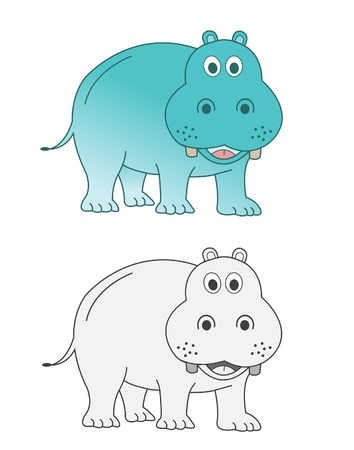 Hippo Stock Vector - 14709629
