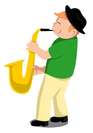 Child Saxophone Vector